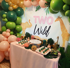 Two Wild Treat and Candy Table