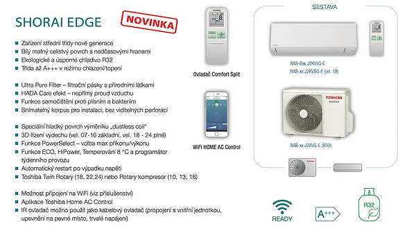 klimatizace Toshiba Shorai Edge Akce