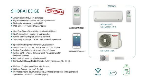Klimatizace Toshiba EDGE akce