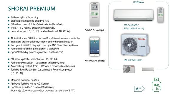 klimatizace Toshiba Shorai Premium Akce
