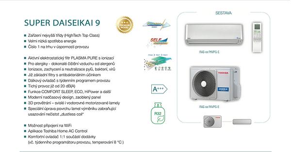 klimatizace Toshiba DAISEKAI 9 Akce
