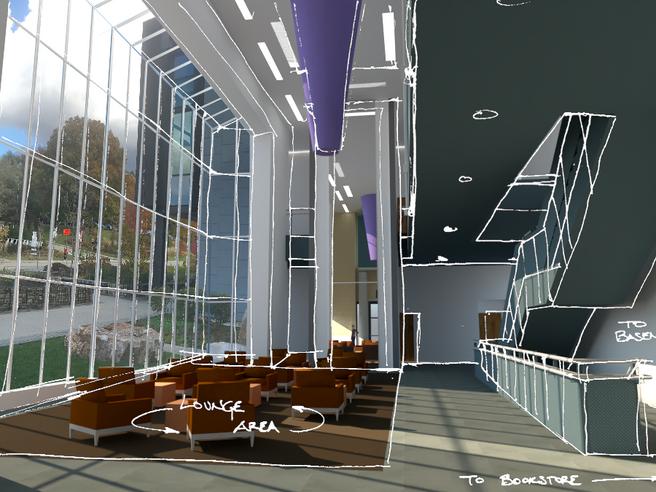 Cohon University Center   Overlayed Sketch