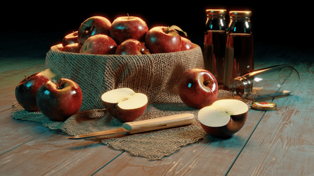Apple Bowl Scene