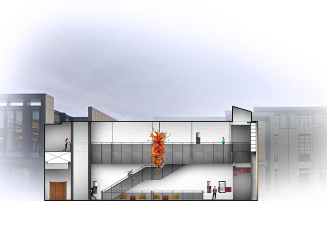 Cohon University Center   Long Section