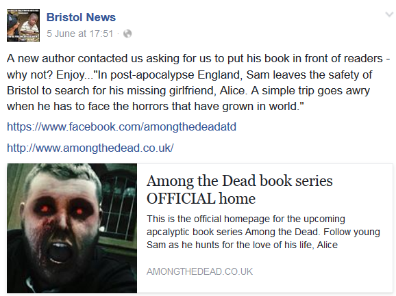 Bristol News article for Among the Dead