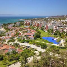 Aerial of the resort