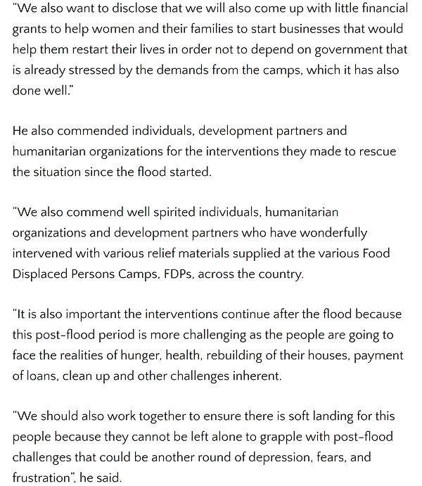 SWEERGLOBAL Unveils plan To Assist Flood