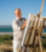Artist on the beach