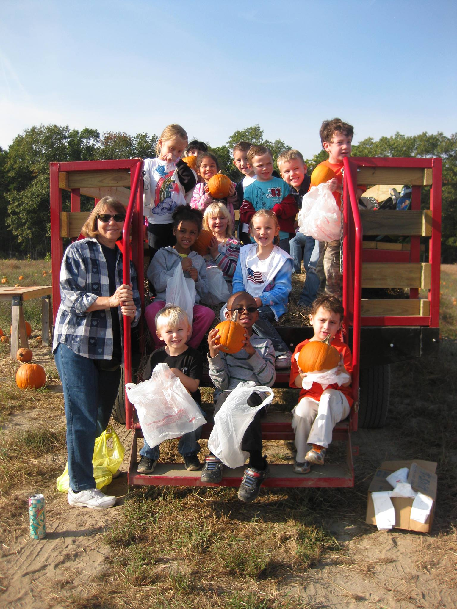 Groups and Parties pumpkin wagon pic