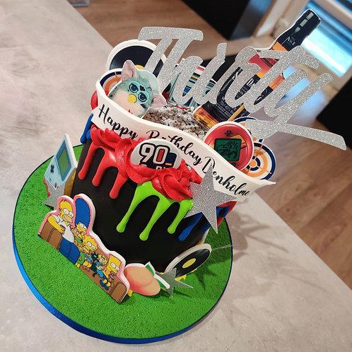 90s baby drip cake
