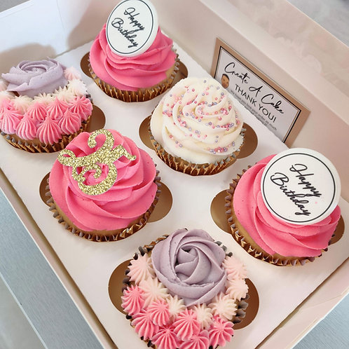Pink cupcakes in Liverpool