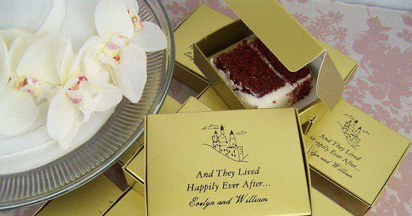 Wedding cake favour boxes