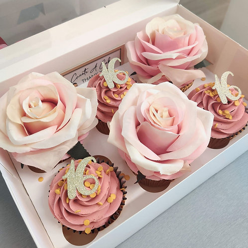 Rose Cupcakes to order in Liverpool
