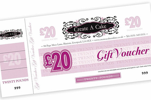 Create A Cake In Store Gift Voucher