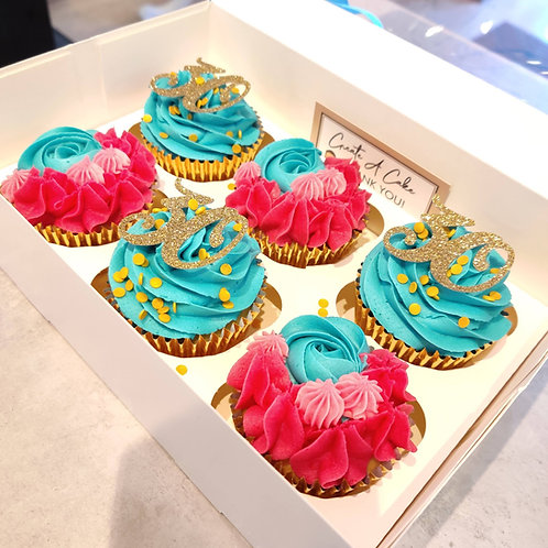 Colourful birthday cupcakes in Liverpool
