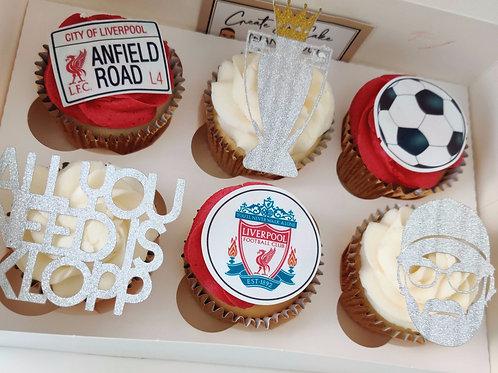 Liverpool F.C League winners cupcakes