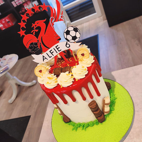 Liverpool drip cake