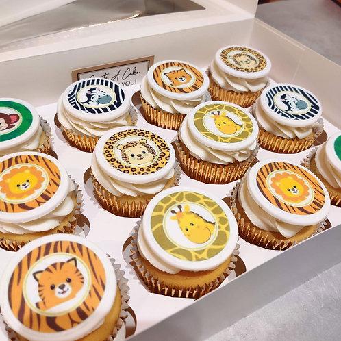 Jungle Animal Cupcakes 🦁🦒🦓