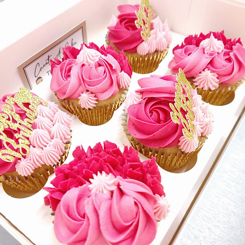 pink girly cupcakes in Liverpool