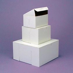 White Cake Boxes & Transport Boxes