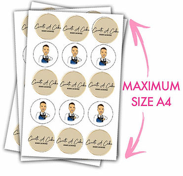 Edible print outs and cake toppers in Li