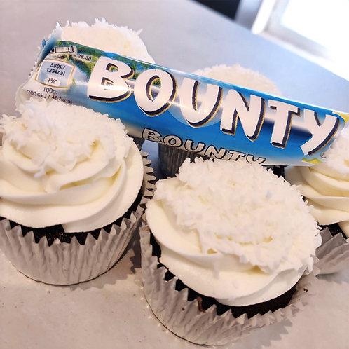 bounty coconut cupcakes