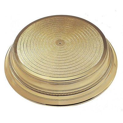 Gold wedding cake stand base hire in Liverpool