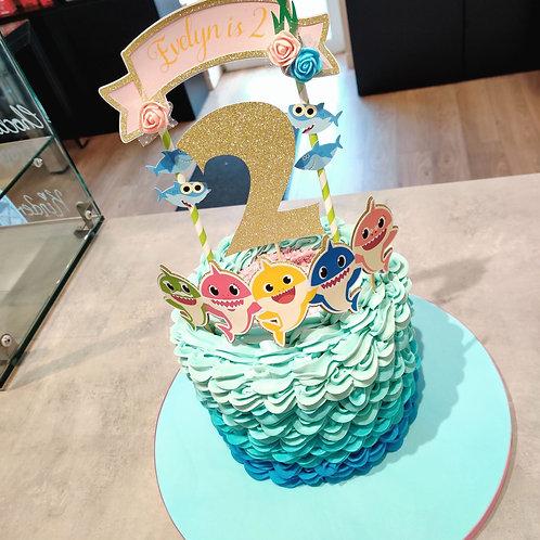 Baby Shark Drip Cake 🦈
