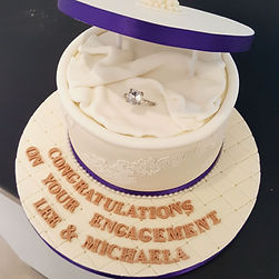 Engagement cakes, golden wedding anniversary, 1st wedding anniversary cake, engagement party cake in Liverpool