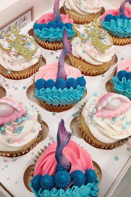 Mermaid Birthday Cupcakes