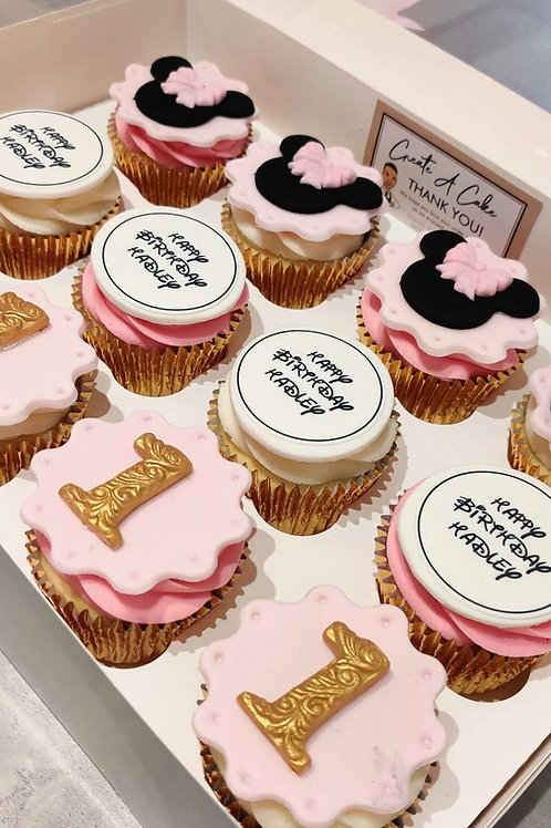 Minnie Mouse Cupcakes 🐭🎀