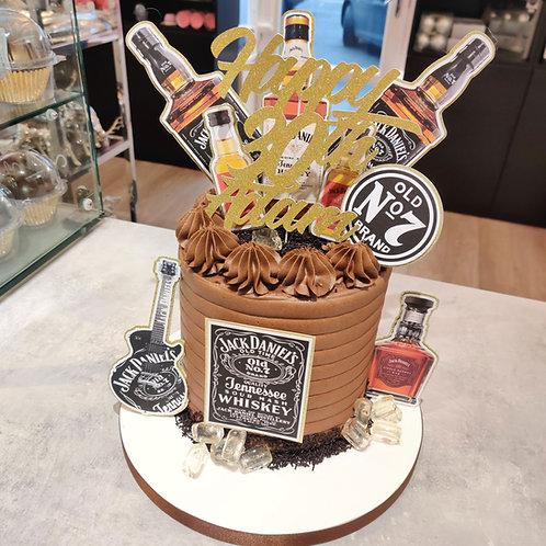 Jack Daniels drip cake