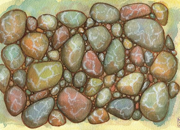 River Rocks, 10x7 limited print