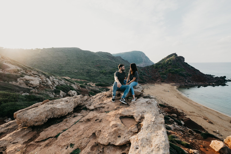 Sesión de pareja en Cala Pilar