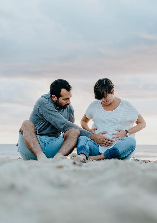 Sesión de fotos de pareja en Punta Prima, Menorca