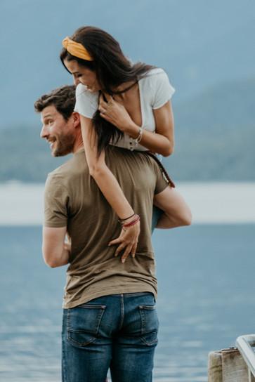 Sesión de fotos de pareja en Nueva Zelan
