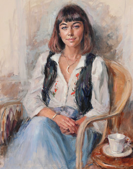 Portrait of Faye 30in x 36in oils on stretched canvas