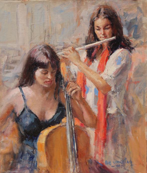 Duet oil on canvas 14in x 11in.JPG