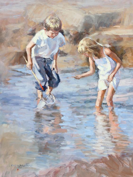 Children in rockpools
