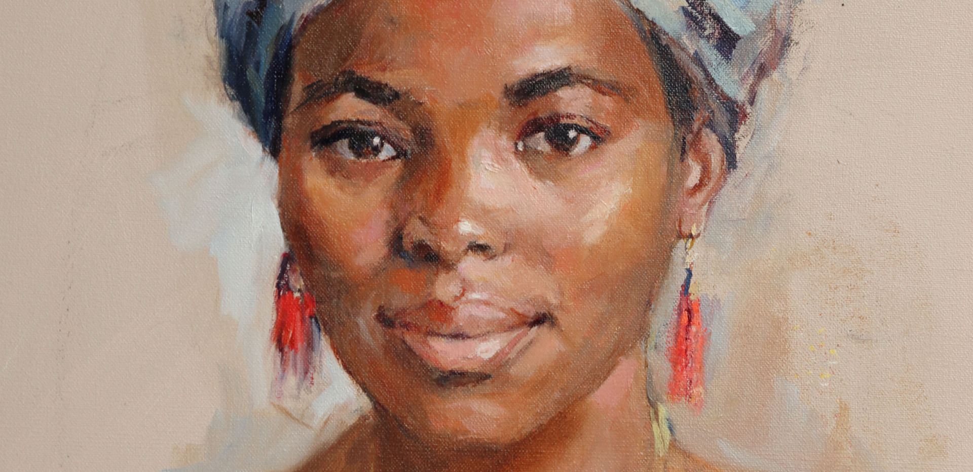 Nonhle 20in x 24in oil on canvas