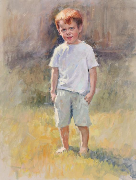 Portrait study of Ben oils on canvas 22i