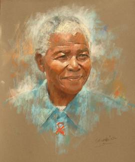 Nelson Mandela  Pastel Portrait
