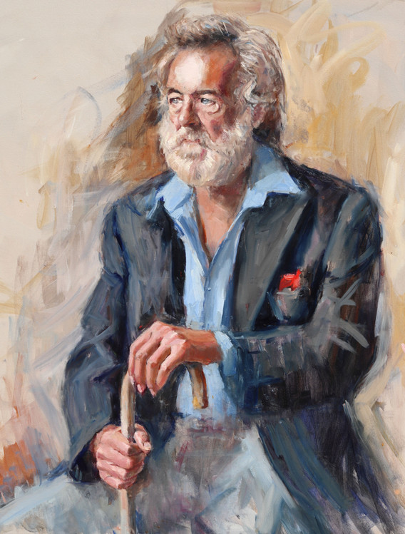 The Pensioner 22in x 28in oil on canvas