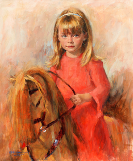 Girl on a rocking horse