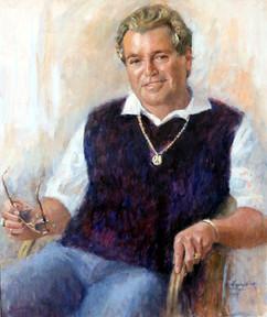 Oil Portrait commission of Mr N Deetlefs