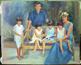 The Wong Family oil portrait commission.
