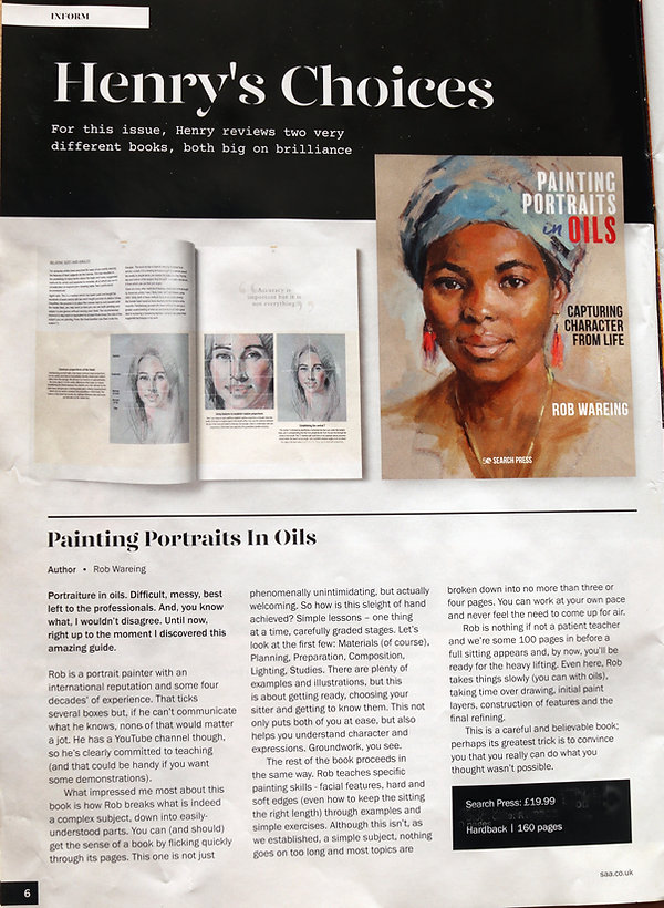 Book review in Paint magazine UK January
