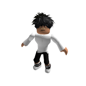 Roblox Simple White and Black Oder Slender Outfit