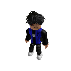 Roblox Oder Slender Outfit with Blue Vest and Dior Hoodie