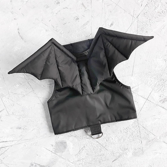 Bat Wing Cat Harness Walking Jacket (Black)